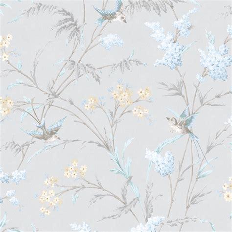 hailey grey blue floral birds glitter highlight