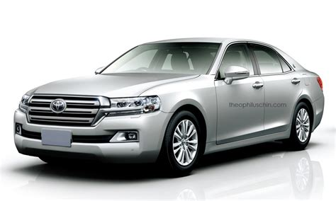 toyota crown classic rendered  land cruiser  fascia