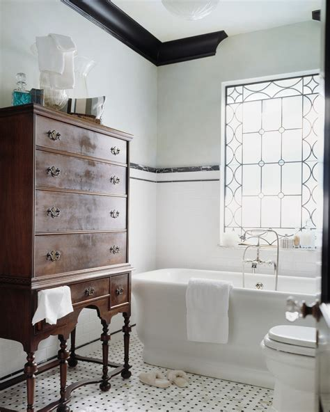 white subway tile bathroom traditional with accent window