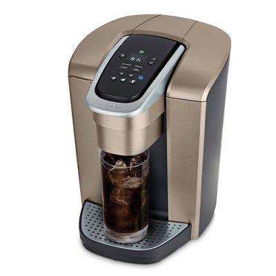 Compare and choose based on different types, brands, price and deals with retailmenot. Keurig K-Elite Single-Serve K-Cup Pod Coffee Maker with Iced Coffee Setting - Gold   Coffee ...