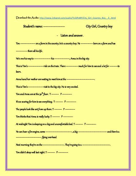 listening skills worksheets for elementary students vcc