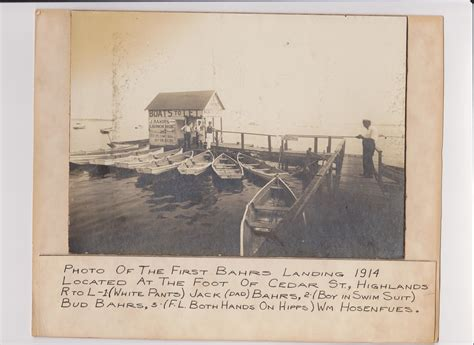 Boat Rentals Highlands Nj by 1917 Our History Houseboat Beginnings Bahrs Landing