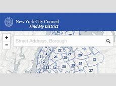 Find My District Widget New York City Council