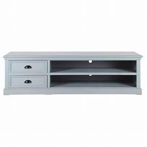 Meuble Tv 160 Cm : meuble tv en bois gris l 160 cm newport maisons du monde ~ Teatrodelosmanantiales.com Idées de Décoration