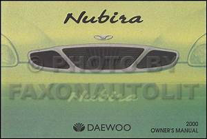 2001 Daewoo Nubira Service Shop Repair Set Oem 2 Volume Set And The Electrical Wiring Diagrams