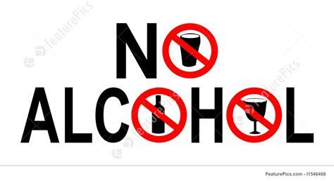 No Alcohol Sign Illustration