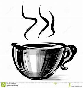Cup With Steam Stylized On White Stock Images - Image ...