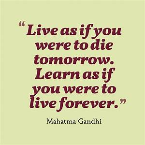 Picture Mahatma Gandhi Quote About Learning