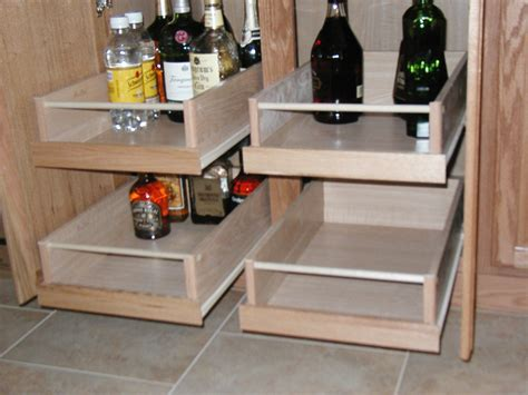 Kitchen Drawers Or Shelves by Contemporary Pull Out Cabinet Shelves Home Ideas