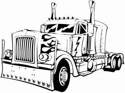 Truck Semi Coloring Pages Kenworth Trailer Printable