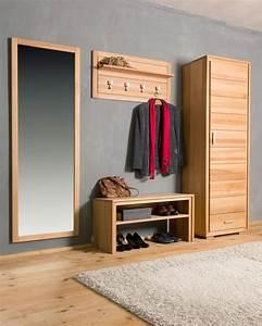 Garderoben Set Massivholz : garderoben set genf vi kernbuche ge lt gewachst 6 teilig ~ Whattoseeinmadrid.com Haus und Dekorationen