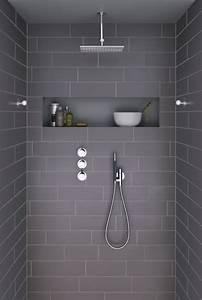 Carrelage De Douche : carrelage gris bien plus intriguant que vous l 39 imaginez ~ Edinachiropracticcenter.com Idées de Décoration