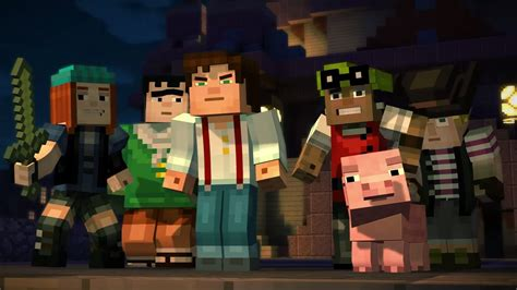 review minecraft story mode episode  building character