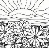 Coloring Pages Gardening Garden Printable Flower Sheets Plant Psychedelic sketch template