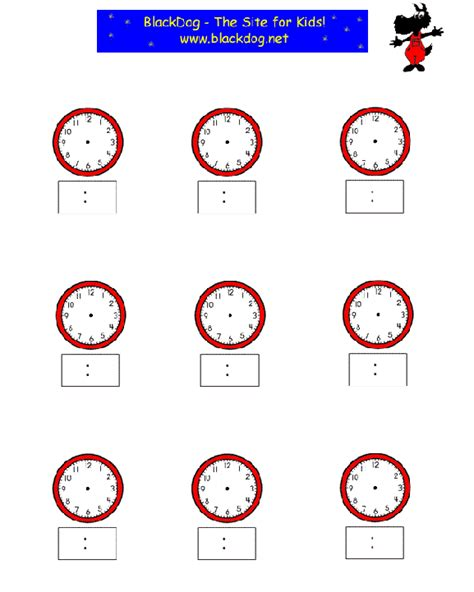 Free Printable Analog Clock Worksheets  Match The Clock Ii Worksheet Education Time Worksheets