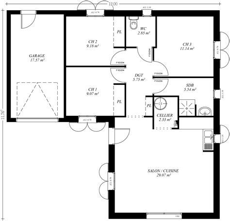 trendy amusant plan maison en l plan maison en l avec