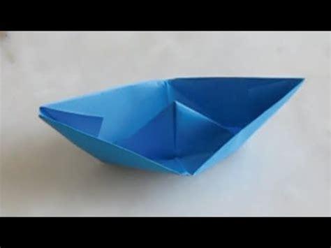 le petit bateau en papier origami youtube