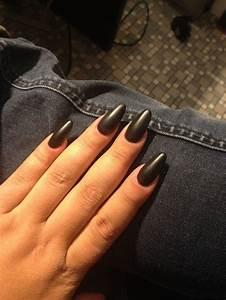 matte black nails | acrylic nails | Pinterest