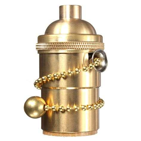 light bulb pull chain e27 e26 solid brass light socket pull chain on off vintage