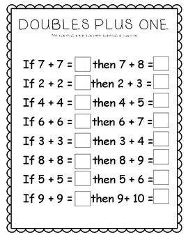 doubles  worksheets  images  grade math