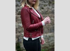 The Burgundy Leather Jacket & Boots Raindrops of Sapphire