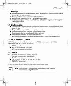 Zebra Technologies Ap7522i Oak Internal User Manual Ap