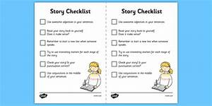 Story Mountain Guide Writing Prompts Checklist