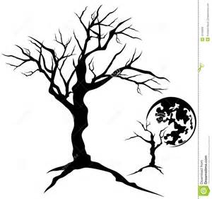 Creepy Tree Branches Silhouette