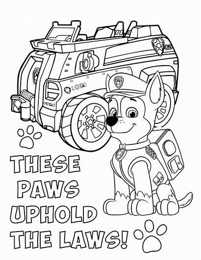 Paw Patrol Coloring Chase Pages Printable Pawpatrol