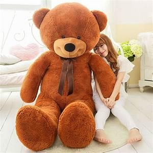 200 Cm Teddy : 200 cm big huge stuffed teddy bear toy capa sem recheio no mesmo em stuffed plush animais de ~ Frokenaadalensverden.com Haus und Dekorationen
