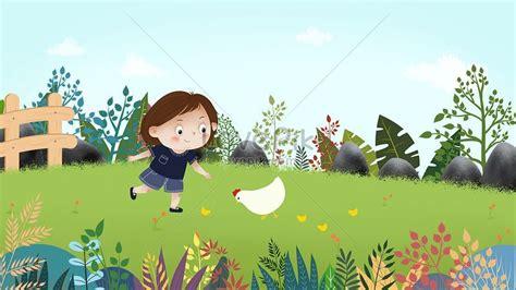 25 trend terbaru gambar kartun anak memberi makan ayam