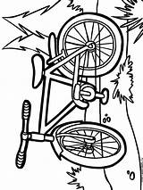 Coloring Pages Bicycle Printable Bright Choose Colors Favorite sketch template