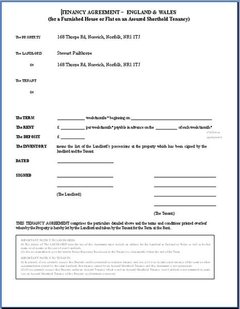 Landlord Tenant Contract Template by Printable Sle Rental Agreement Doc Form Real Estate
