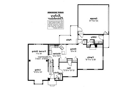 Colonial Floor Plans by Colonial House Plans Iverness 42 008 Associated Designs