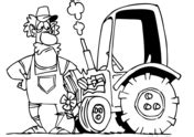 tractors coloring pages  coloring pages