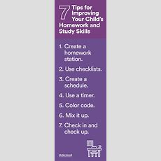 7 Tips For Improving Your Child's Homework And Study Skills  Kids Homework, Homework And Parents