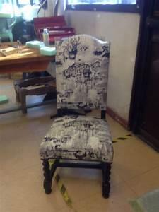 Chaise Louis Xiii : chaise louis xiii relook e avec un tissu jean paul ~ Melissatoandfro.com Idées de Décoration