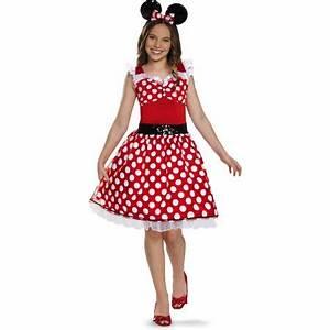 Red Minnie Mouse Tween Halloween Costume - Walmart.com