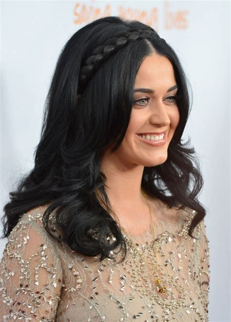 long braided black hairstyle  women katy perry hair