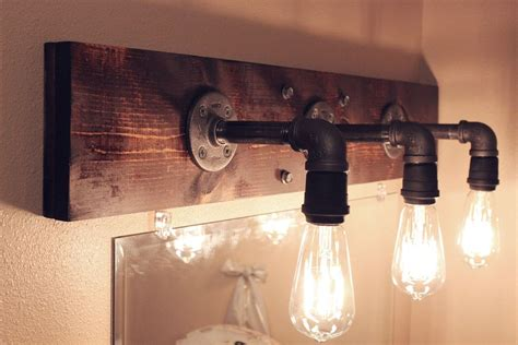 Rustic Bathroom Light Fixtures by Diy Industrial Bathroom Light Fixtures Diy Bathroom