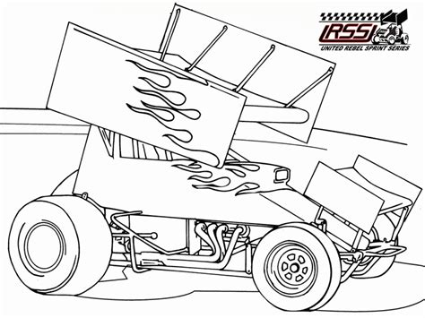 Sprint Race Car Colouring Pages Coloring Home