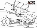 Coloring Sprint Pages Race Racing Dirt Colouring Drawing Cars Printable Sheets Late Drawings Sprintcar Clipart Print Template Track Convertible Getdrawings sketch template