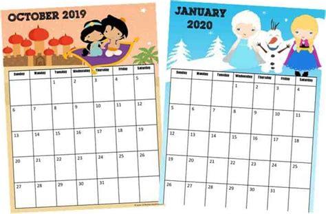 printable  printable disney calendar