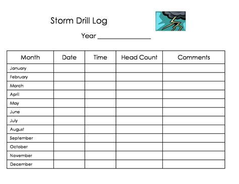 home daycare forms printable printable home daycare forms storm fire drill logs