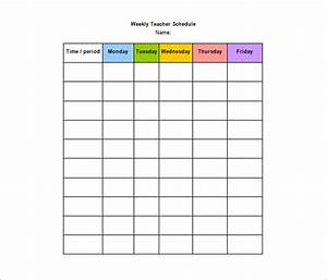 Teacher schedule templates 12 free word excel pdf for Timetable templates for teachers
