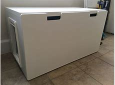 Easy to Clean Stuva Bench Litter Box IKEA Hackers