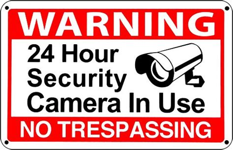24 Hour Video Surveillance Warning Cctv Sign No