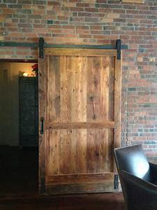 hand crafted reclaimed wood barn door room divider by With barn door store near me