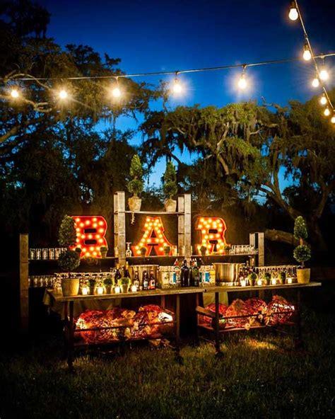 attractive  unique outdoor wedding bar ideas