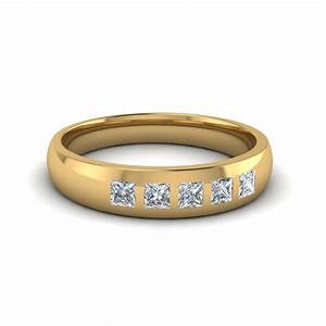 14k yellow gold white diamond men39s wedding band With mens diamond wedding rings yellow gold